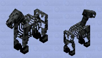 Withered skeleton horse Minecraft Mob Skin