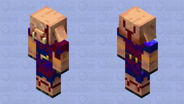 King of the Culte. Warrior Piglin Minecraft Mob Skin
