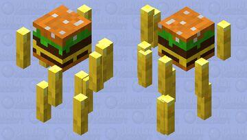 Burger blaze with fries Minecraft Mob Skin