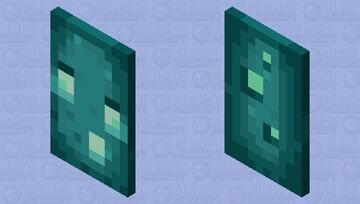 Glow Squid Cape Minecraft Mob Skin