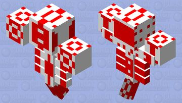 mega  red Minecraft Mob Skin