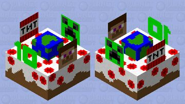 PMC CAKE 10TH Minecraft Mob Skin