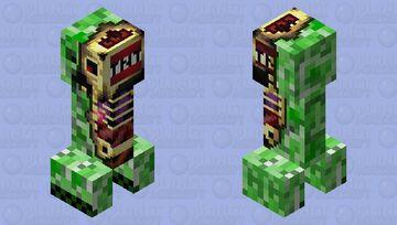 Anatomy of a creeper Minecraft Mob Skin