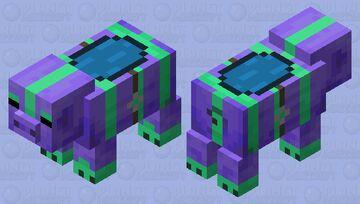 Saddled Alien Pig Minecraft Mob Skin