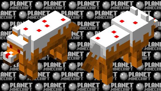 Caked Wolf Minecraft Skin