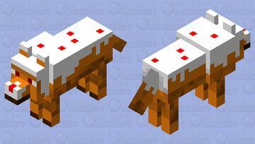 Caked Wolf Minecraft Mob Skin
