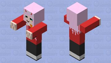 Zero two zombie Minecraft Mob Skin