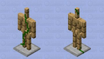 Armor Stand With Vine (Cool for jungles) Minecraft Mob Skin