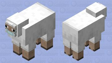 Sheep with a face mask Minecraft Mob Skin