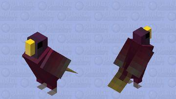 Lóris-de-pohnpei (Trichoglossus rubiginosus) Minecraft Mob Skin