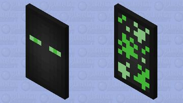Green Enderman Cape Minecraft Mob Skin