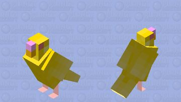 Yellow Parakeet Minecraft Mob Skin