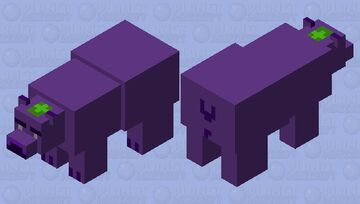 Eggplant Polar Bear Minecraft Mob Skin