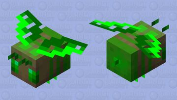 wow look its a bee but green Minecraft Mob Skin