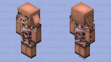 piglin with gold piercing in cammo Minecraft Mob Skin