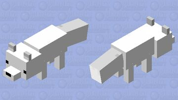 Arctic Fox Minecraft Mob Skin