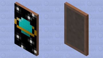 Blue planet with orange ring around it Minecraft Mob Skin