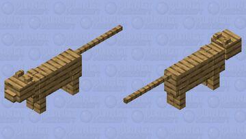 oak wood planks cat Minecraft Mob Skin