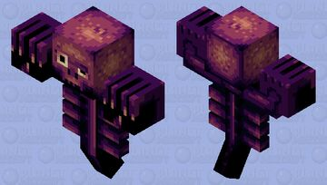 Wither skeleton monster Minecraft Mob Skin