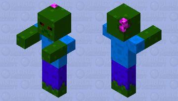 Cartoony Zombie  {Fixed} Minecraft Mob Skin