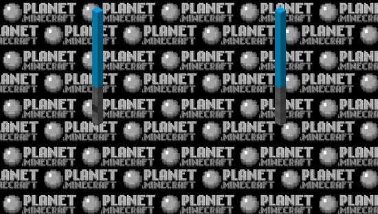 Blue lightsaber Minecraft Skin