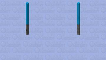 Blue lightsaber Minecraft Mob Skin