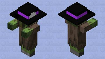Zombie Villager With GoombaUeeaTheMCFangirl340's 18 Hat Minecraft Mob Skin