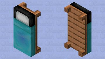 Simple Light Blue Bed Minecraft Mob Skin