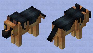 German Shepherd Minecraft Mob Skin