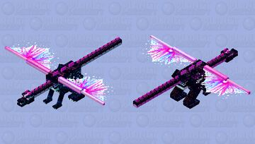 🐉 Cosmic Fire -  Synthwave Dragon [Age of Dragons Contest] Minecraft Mob Skin