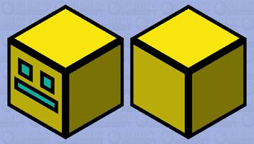 Geometry Dash (Yellow Cube) Minecraft Mob Skin