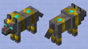 Dark Egyptian Wolf Minecraft Mob Skin
