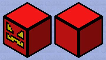 Geometry Dash (Red Cube) Minecraft Mob Skin