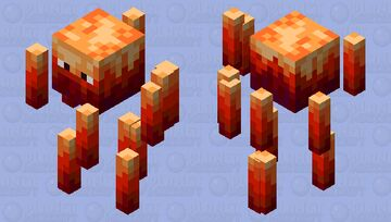 Red Blaze Minecraft Mob Skin