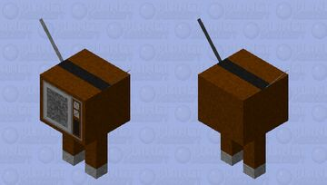 TV with legs Minecraft Mob Skin