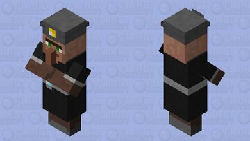 Miner Villager Minecraft Mob Skin