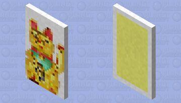 Maneki-neko (Gold Version) Minecraft Mob Skin