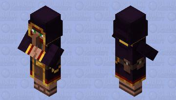 Black Wandering Trader Minecraft Mob Skin