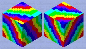 Rainbow Kawaii Shulker Minecraft Mob Skin