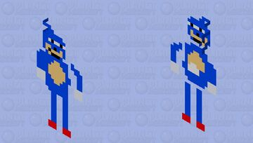 Hey look it's Sanic and why is he running at me with an axe? Minecraft Mob Skin