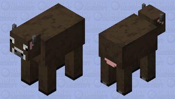 Brown Cow Minecraft Mob Skin