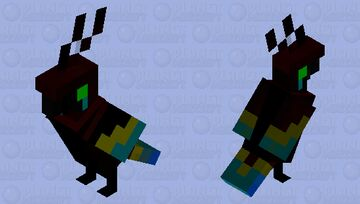GHOST PARROT Minecraft Mob Skin