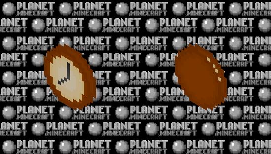 Simple Wall Clock Minecraft Skin