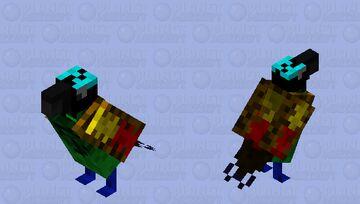 Wilson's bird of paradise Minecraft Mob Skin