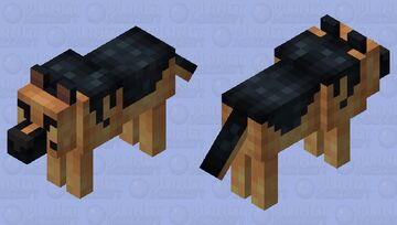 German Shepherd (more fluffy) Minecraft Mob Skin