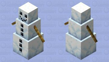 Reshaded snow golem Minecraft Mob Skin