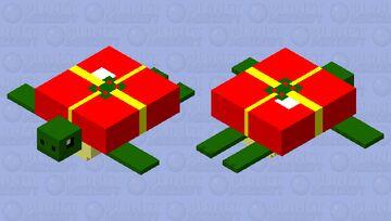 Christmas Turtle Minecraft Mob Skin
