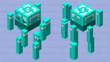 Diamond Blaze Minecraft Mob Skin