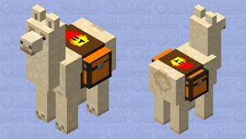 Fire Llama Minecraft Mob Skin
