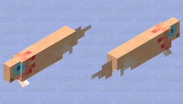 Axolotl's are hard. :p Minecraft Mob Skin
